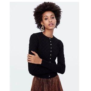 ZARA knit Jewel dark charcoal grey cardigan